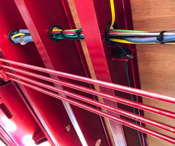 Hydraulic Lines And Protected Electrical